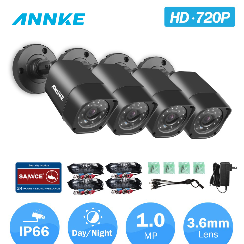 ANNKE 720P HD TVI Security Camera With Weatherproof Housing And 66ft Super font b Night b
