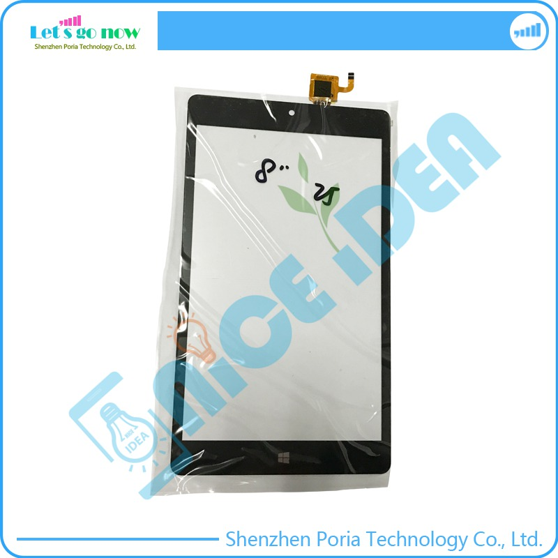 100 New 8 Touch Screen Digitizer For YTG G80085 F1 Black Front Touch Panel Glass Replacement