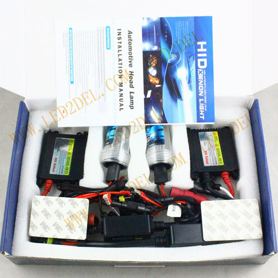 35W HID Bi-Xenon Headlight Conversion KIT Slim ballast bulbs 9012 HIR2 4300K 6000K 8000K (1set) slim hid xenon ballast 880 4300k headlight kit conversion bulbs 35w [c476]