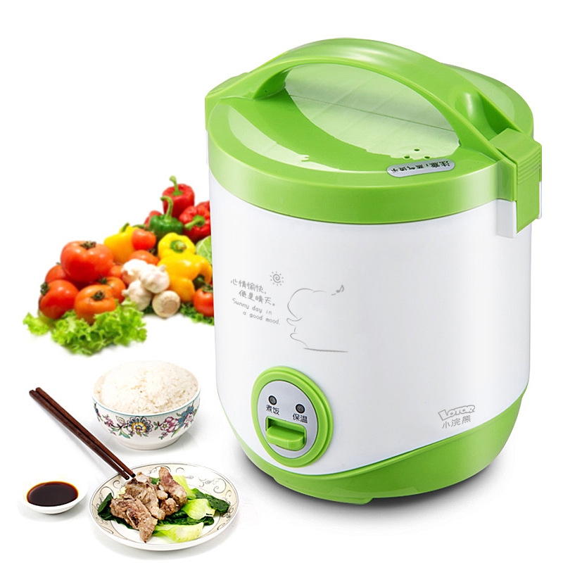 Rice Cooker Electric Lunch Box Rice Cooker Soup Pot Steamed Rice Pot Small Insulation Non-stick Pan 1L Capacity рисоварка cooker lunch box capacity 875ml 125ml capacity plate