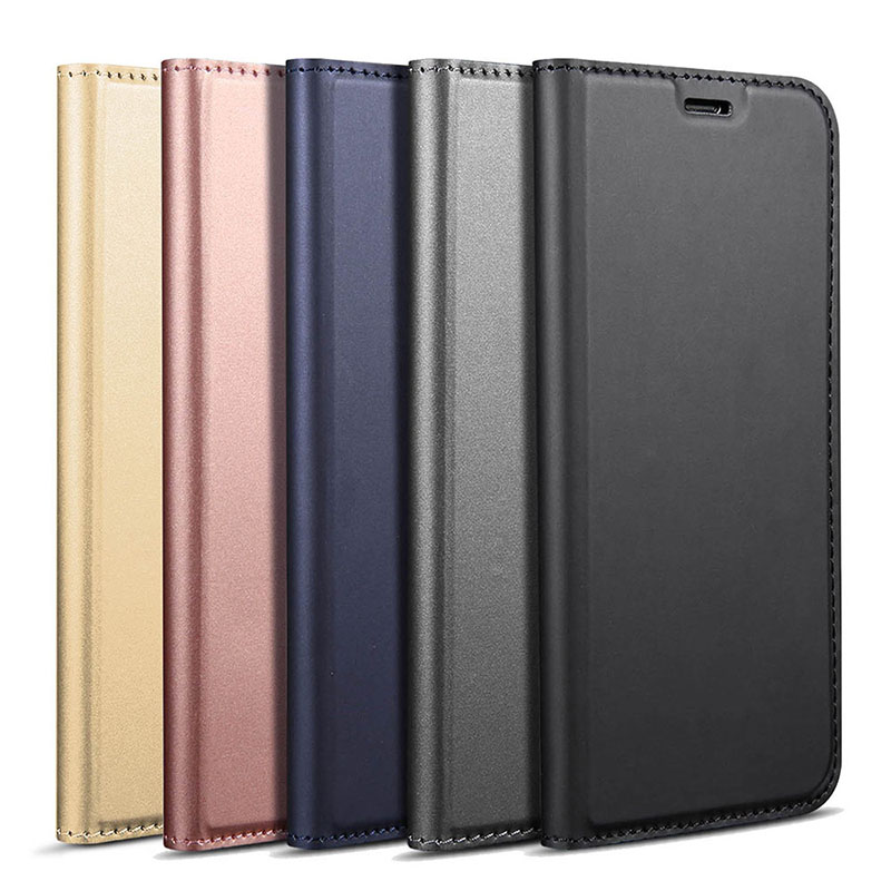 DZgogo For Sony Xperia XZ2 Case Luxury PU Leather Cases Magnetic Stand Flip Card Slot Cover Case For Sony Xperia XZ2 Phone Shell in Flip Cases from Cellphones Telecommunications