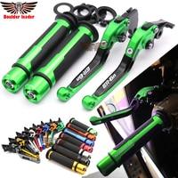 For KAWASAKI ER6N ER 6N 2009 2010 2011 2012 2013 2014 15 Motorcycle Adjustable Folding Brake Clutch Levers Handlebar Hand Grips
