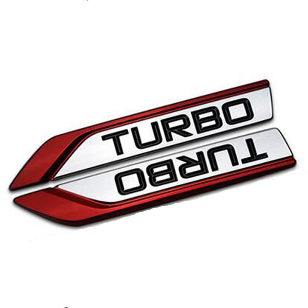Dsycar 1 pair 3D Metal TURBO Car Sticker Emblem Badge For Jeep BMW Ford Volvo Nissan Mazda Audi VW Honda Toyota Lada Chevrolet
