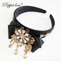 Wheat Ears Headbands Women Bow Crown Crystal Headband Bridal Flower Tiara Halo Hairpiece boho Wedding Hair Accessories
