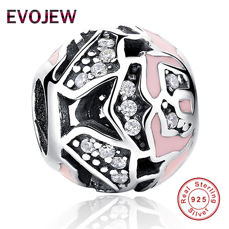 796c3b13f ... low price authentic 100 925 sterling silver dazzling cz pink enamel  rose charm fit original pandora ...