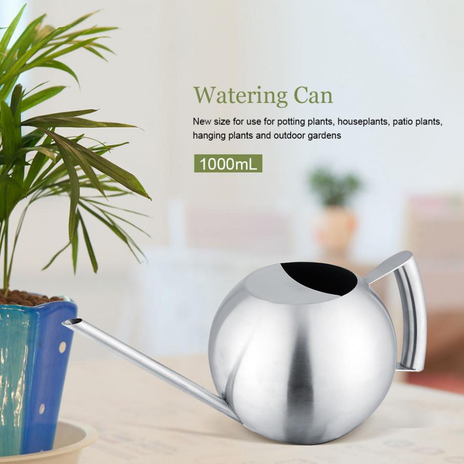 1000ML Watering Can For Indoor House Plants Long Spout Brushed ... on