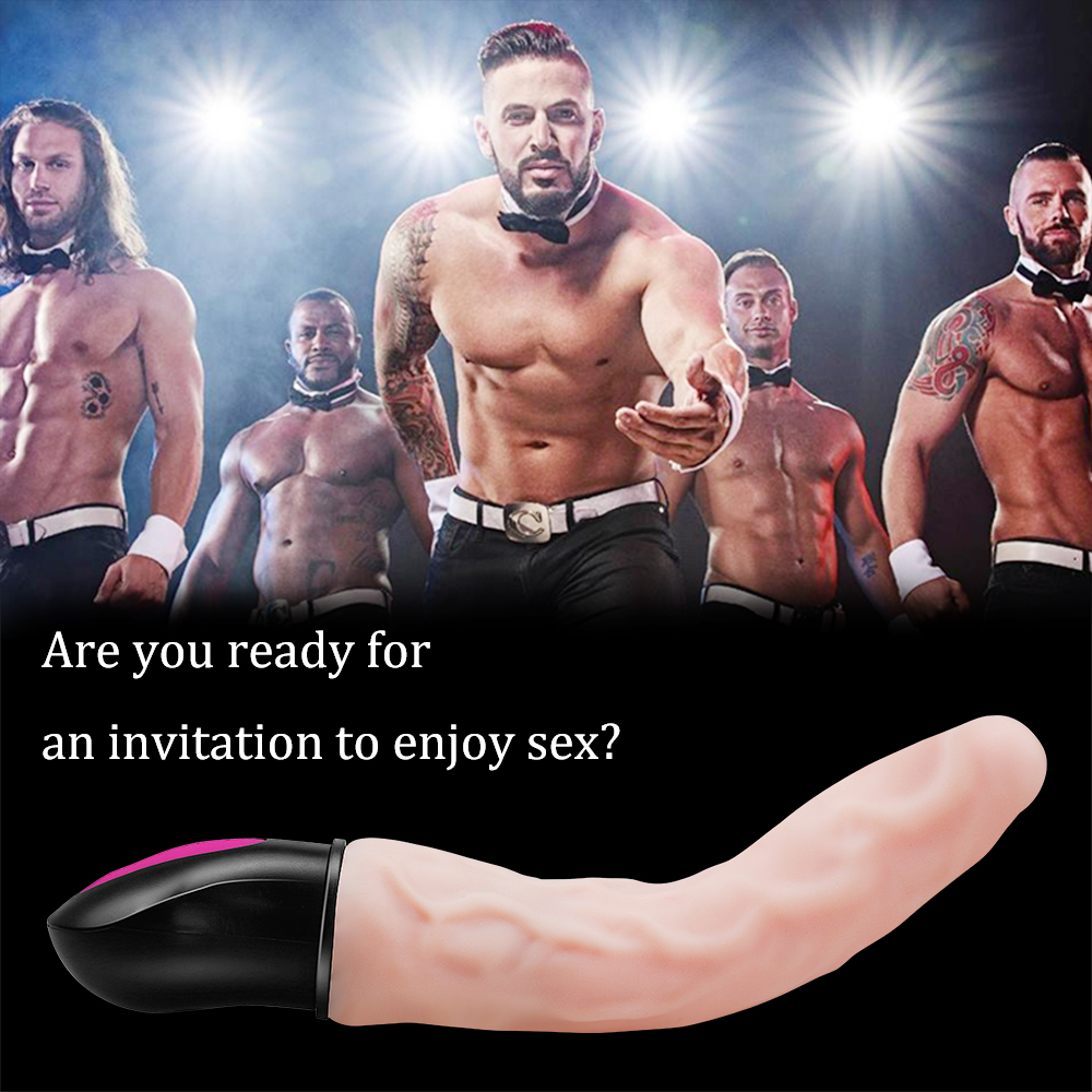 FLXUR 12 Mode Heating Realistic Dildo Vibrator Flexible Soft Silicone Penis G Spot Vagina Vibrator Masturbator Sex Toy For Women 1