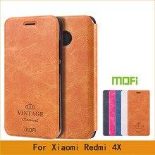 Mofi Чехол Для Xiaomi Редми 4X Чехол Флип Книга Стиль Случай Мобильного Телефона Для Редми 4X Телефон Случаях