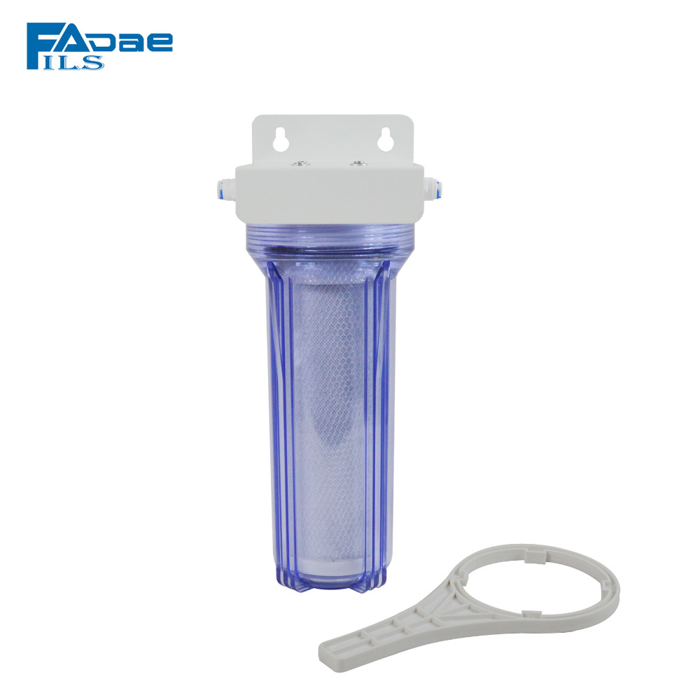 Transparent 2.5in x 10in Whole House Coconut Carbon Block Water Filter 1/4 inch Quick Push connector t33 inline coconut carbon block filter 5 micron 1 4 quick push connector 2pcs lot