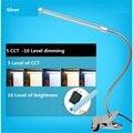 USB и ант зажим настольная лампа, лампы настольная лампа, лампы для чтения для кровати, гибкая настольная лампа, 5 уровень цвет меняется. 10 уровня dim