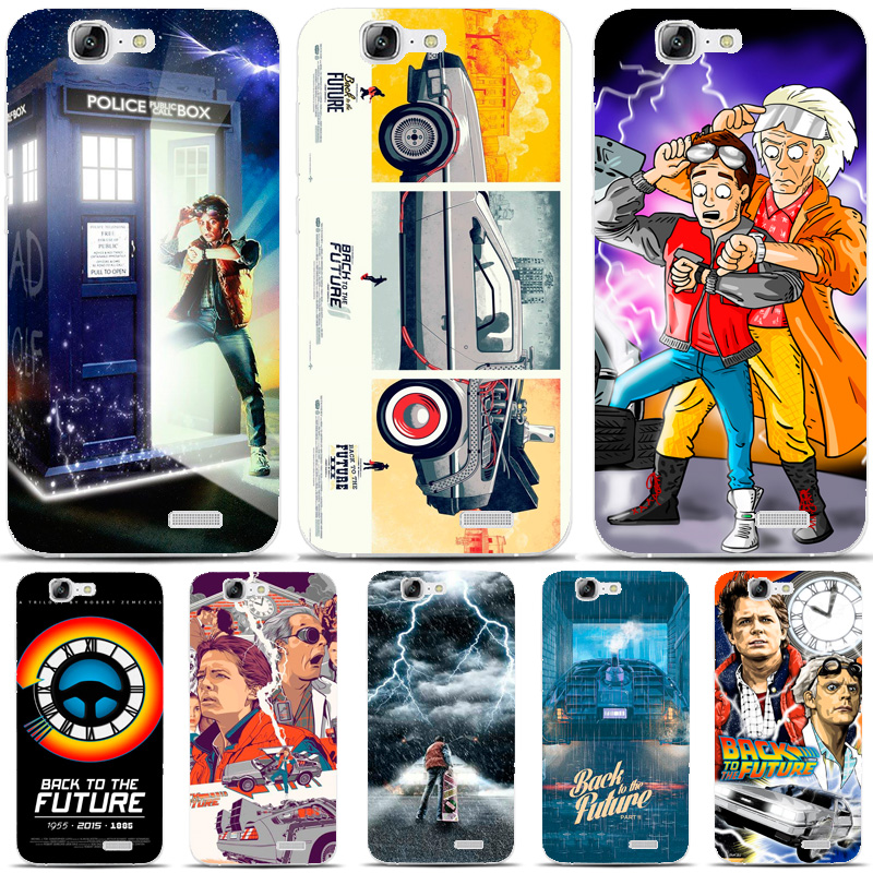 G412 Back To The Future Boy Transparent Hard Thin Skin Case Cover For Huawei P 6 7 8 9 10 Lite Plus Honor 6 7 8 4C 4X G7