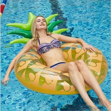 Giant Pineapple float 120cm Inflatable Swimming Ring Beach Lounger Mattress Adult Pool Floats Summer Party Water Sport Toys