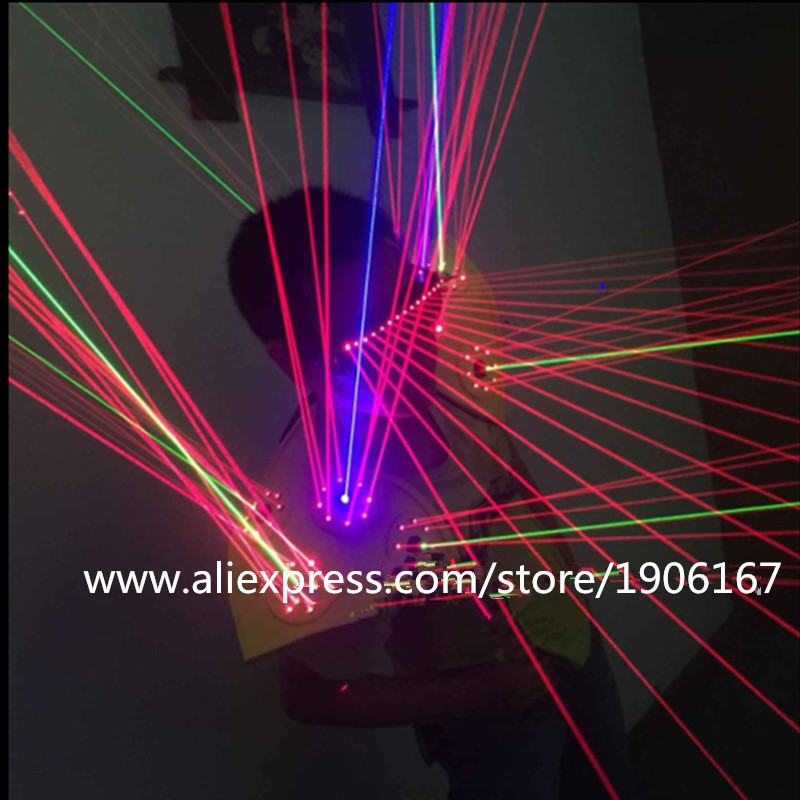 Hot Sale RGB Laser Man Glasses Costume Waistcoat Laserman Vest Laser Show Clothing Nightclub DJ Performance Stage Party Clothes