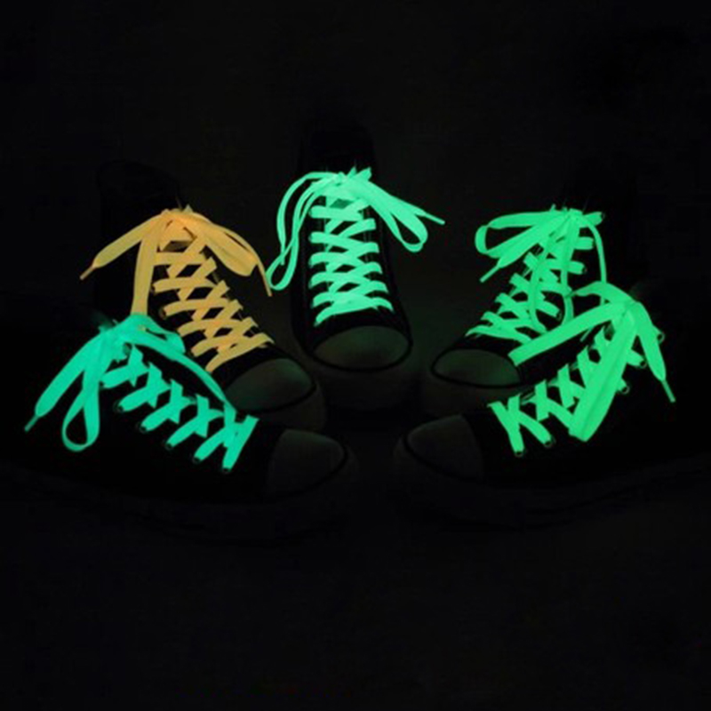 Shoelaces Humorous 120cm Fashion Sport Luminous Shoelace Toys Shoe Accessories Glow In The Dark Shoelace Night Running Gift At Any Cost