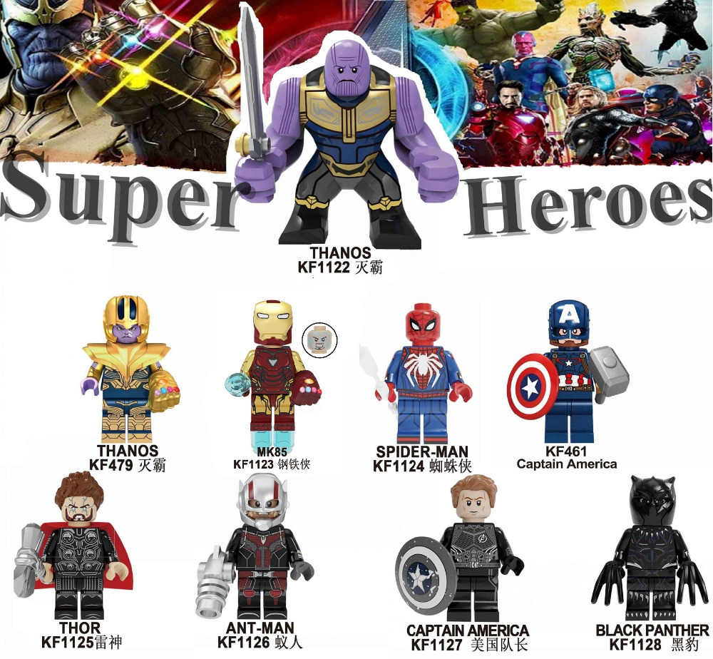 Single Sale Building Blocks Rocket Thanos Spiderman ron Man Proxima Night Super Heroes INFINITY WAR Bricks Toys For Kids <font><b>KF6087</b></font> image