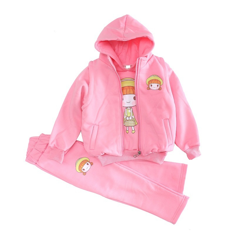 Fashion Children Tracksuits Hooded Cotton Children Clothing Winter Thick Warm Boys Girls Sport Suits New Children Clothing Sets children tracksuits plaid winter