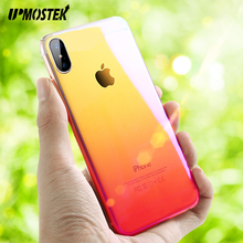 UPMOSTEK Phone Case For iPhone 7 8 10 Capinhas Gradient Color Ultra Thin Slim PC Hard Back Cover Case For iPhone X Case