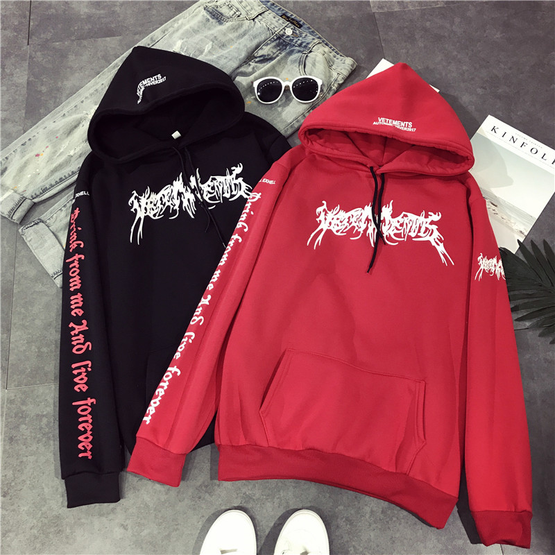 Arfreeker BTS Boys Women Hoodies Sweatshirts Flower Streetwear Harajuku Fashion Women Men Pullovers Black Red Sweatshirt