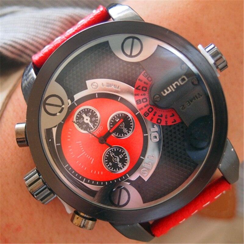 Nieuwe OULM 3130 Heren grote wijzerplaten Uniek ontwerp Dual Time - Herenhorloges - Foto 6