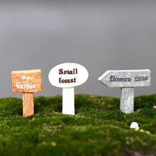 Moss Micro Landscape Ornaments Have Forest Instructions Road Signs Doll Diy Assembled Toy Ornaments Miniature Garden Figurine(China)