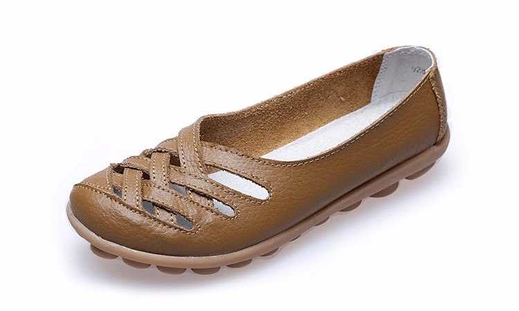 Hot Sale 2016 Spring New PU Leather Woman Flats Moccasins Comfortable Woman Shoes Cut-outs Leisure Flat Woman Casual Shoes ST181 (20)