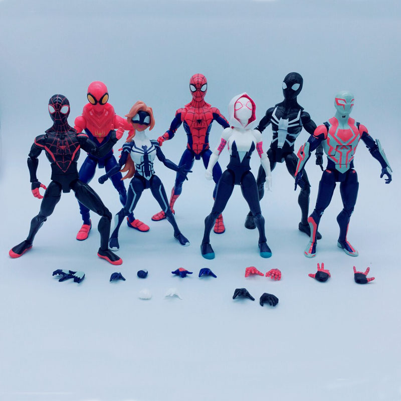 Spider Man Homecoming Spiderman 2099 Agent Venom Gwen Stacy Spider Woman PVC Action Figure Toys 7 Styles