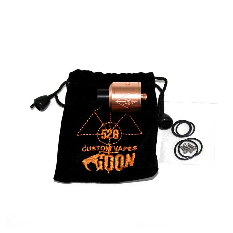 ФОТО 100% Original 528 Custom Vapes Goon RDA 22mm 22 mm Atomizer Tank Black Brass Copper Silver Electronic Cigarettes Vaporizer