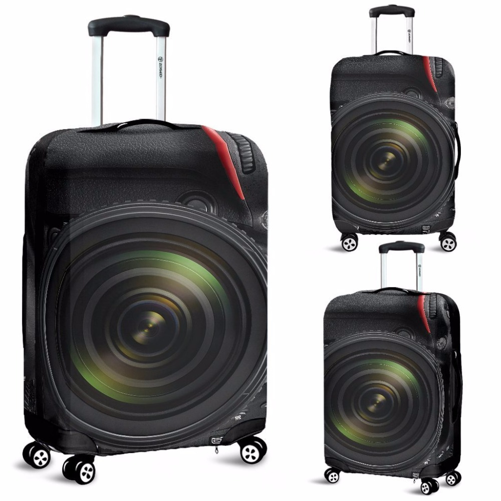 FORUDESIGNS Vintage Camera Luggage Covers Travel Protective Waterproof Rain Cover Apply to 18-30 Inch Suitcase Case Dust Cover