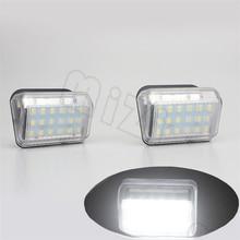 2Pcs Car LED License Plate Light 12V White SMD3528 Number Lamp Bulb Kit For Mazda 6 03- CX-5 13- CX-7