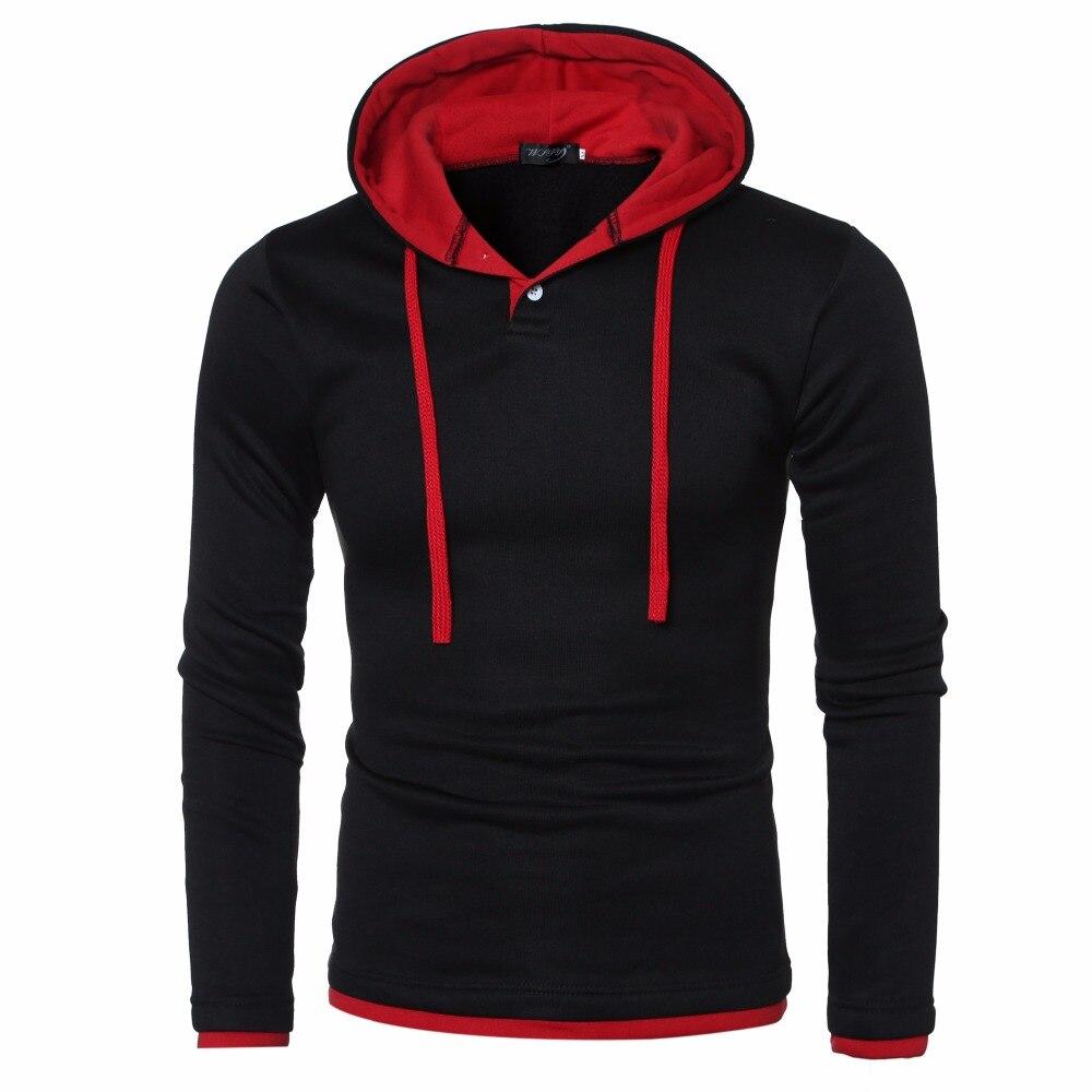 2017 New Sweatshirt Men Solid Hoodies Fashion Solid Fleece Hoodie Men's Brand Pullover Man Hiphop Hooded Jacket Tracksuits