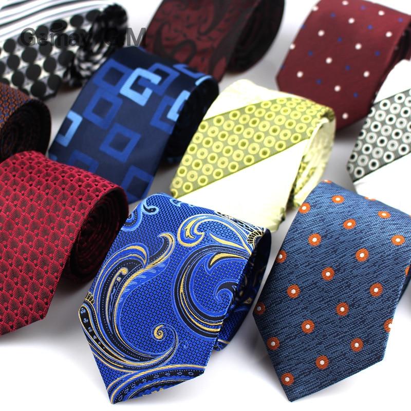 Mens Business Tie Formal Striped Dot Jacquard Wedding Necktie For Men 7CM Classic Corbata Neckwear Gravata
