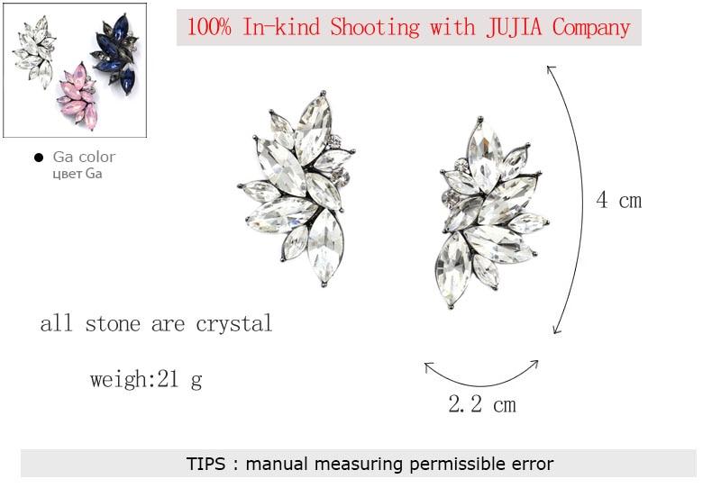 2019 nueva venta al por mayor pendientes de cristal de diseño de la - Bisutería - foto 6