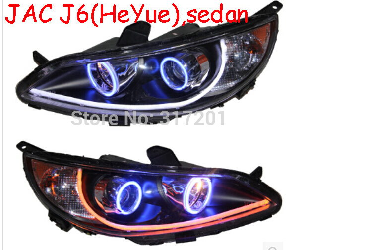 car-styling,JAC headlight,RS,HeYue,2011~2016,Free ship! JAC fog,chrome,LED,j3,JAC head lamp,S5,S3,J5,J6 авто jac s5 в москве