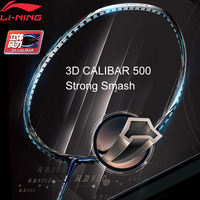 Li Ning 3D CALIBAR 500 Badminton Racket Strength Offensive Type Single Sport Racket No String AYPM388 ZYF306