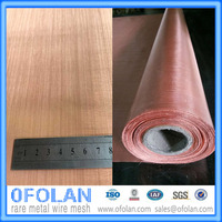 High quality Electronic signal Shielding Red copper wire mesh (150 mesh) 500mmX1000mmX2PCS stock supply