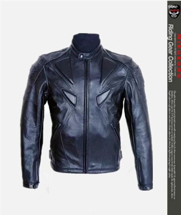 Мужская Защитная куртка из искусственной кожи, мотоциклетная куртка для мотокросса со съемным защитным устройством из 5 предметов
