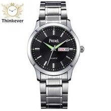 Gw1133 Prema Doble Calendario Impermeable de Los Hombres de Negocios de Acero Inoxidable Reloj de pulsera de Cuarzo Casual Relojes Deportivos Relogio masculino