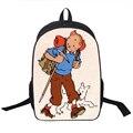De dibujos animados Tintin Aventura/Popeye El Marinero Escuela Mochila Para Adolescentes Niñas Mochilas Niños Bolsos de Escuela Bolso de Las Mujeres