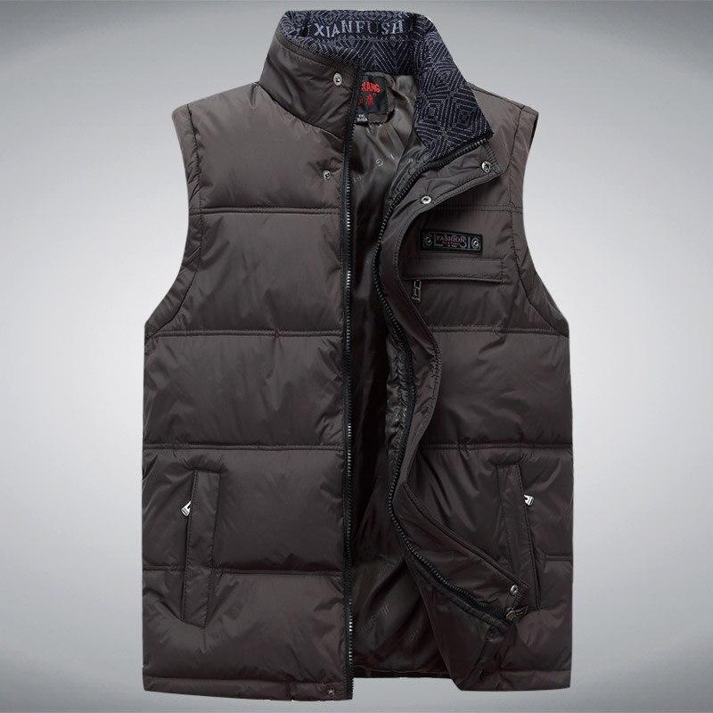 2017 männer Sleeveless Weste Homme Winter Lässige Mäntel - Herrenbekleidung - Foto 5