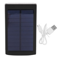 Portable 30000MAH Powerbank Large Capacity Solar Powered Phone External Power Bank Battery Power Supply Charger For