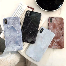 Luxury glossy Marble Phone Case For iPhone X XS Max XR Soft TPU Cover 7 8 6 6s Plus Glitter Coque Funda