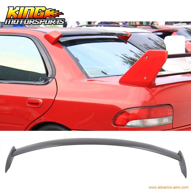 For 02-07 Subaru Impreza WRX STI JDM Rear Roof Spoiler Wings Full Carbon Fiber for 2002 2003 2004 2005 2006 2007 subaru impreza wrx sti roof spoiler wing carbon fiber cf