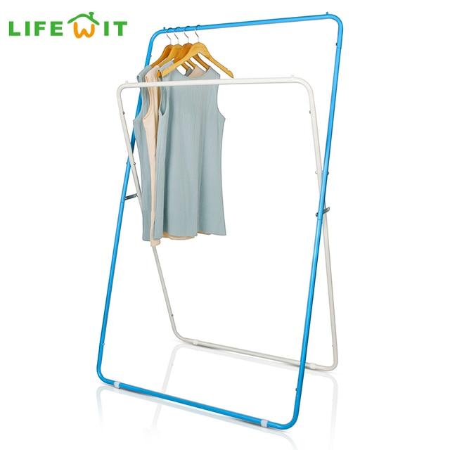 Lifewit Adjustable Garment Rack Clothes Storage Organization Drying Hanging Portable Wardrobe Bottom Storage Organizer
