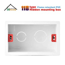 Plastic Wall Plate  wall mount junction box type 118 for PC Flame Retardant Plastic