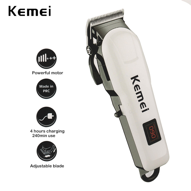 100-240V kemei professional hair clipper electric hair trimmer beard electric razor hair shaving machine hair cutting for barber 100 240v kemei hair clipper beard electric razor electric professional hair trimmer powerful hair shaving machine barber