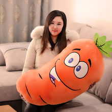 big plush carrot toy cute cartoon carrot pillow gift about 85cm