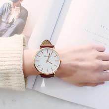 Мода Большие циферблат часы женские наручные часы студентов Damen простой досуг пояса любителей Ретро кварцевые часы