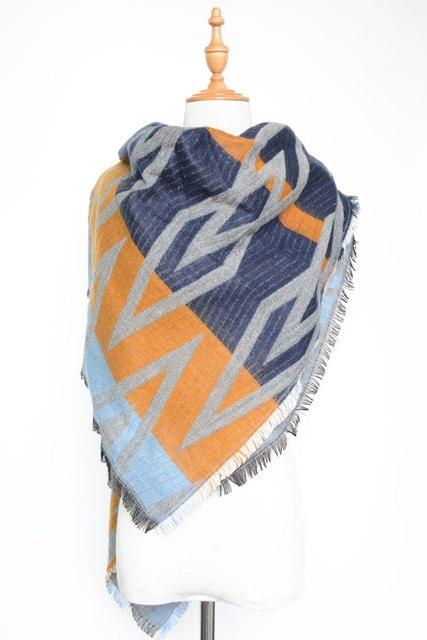 Za Style Newest Designed Floral Printed Geometric Tassels Scarves Women Fashion Warm Multi-use Pashmina Long Shawl Spring Wrap