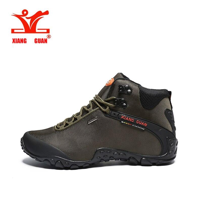 ФОТО 2017 men's Waterproof hiking boots XiangGUAN 82283 high top outdoor Athletic terrking shoes women's camping sports Sneakers