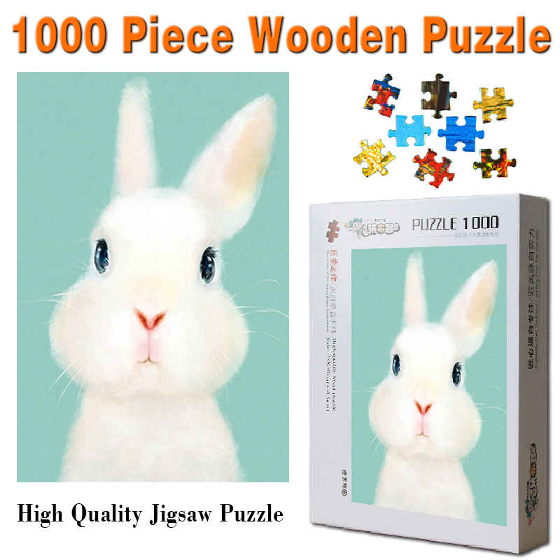 US $18 5 |Free Shipping 1000 pcs jigsaw puzzles for Adults cute animal  puzzle toys, puppy penguin, dolphin cat collect student DIY gift-in Puzzles